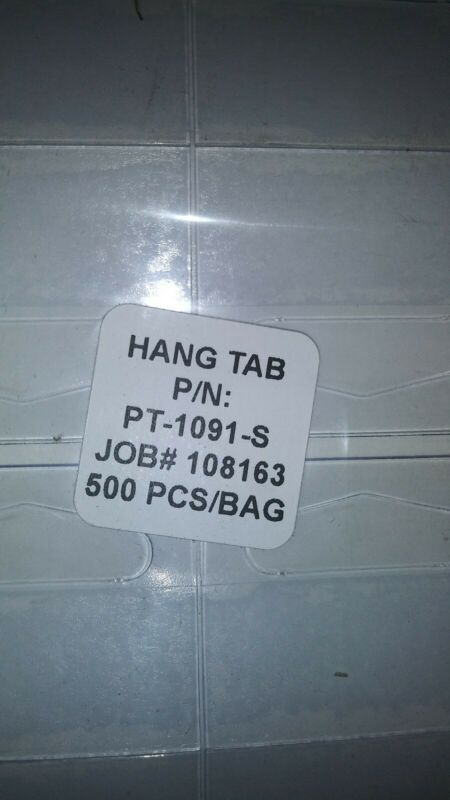 "pt-1091-s 5000 pcs Hang Tabs 1 1/2"" x 1 1/4"" New in pack. (10 packs of 500)"