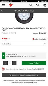 5.30-12 Trailer tire - New