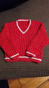 Hand knit infant items
