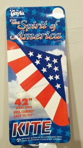 "Gayla 42"" Spirit of America Kite with 200 feet Gayla String"
