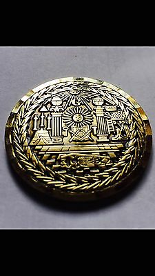 Masonic Lodge  Master Mason Commemorative Electro gold plated Freemason Coin