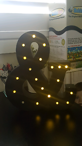 Light up and symbol decorative light Georges Hall Bankstown Area Preview