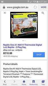 Reptile one thermostat.. Ellenbrook Swan Area Preview