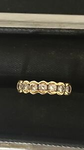 Diamond 18ct gold ring Madeley Wanneroo Area Preview