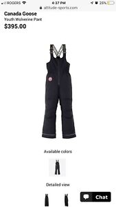 Canada Goose Youth Snow pants size Large  14-16