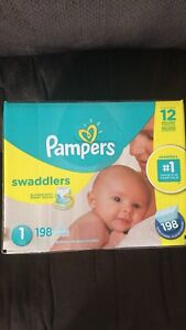 Pampers Swaddlers size 1 (4-6 kg) 198 pieces