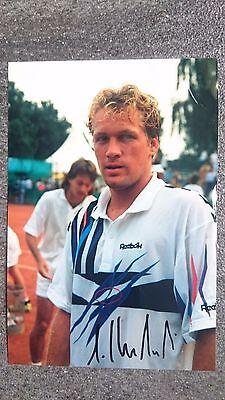 Foto m.Orig.AG Lars Koslowski GER Tennis ex. Weltranglistenspieler Rarität!