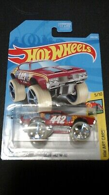 Hot Wheels 2020 HW Art Cars - Maroon Olds 442 W-30 FYC24-D9C0Q MOC 240/250
