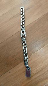 Mens silver steel bracelet Tingalpa Brisbane South East Preview