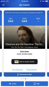 2 tickets - Florence and the Machine - High as Hope Tour