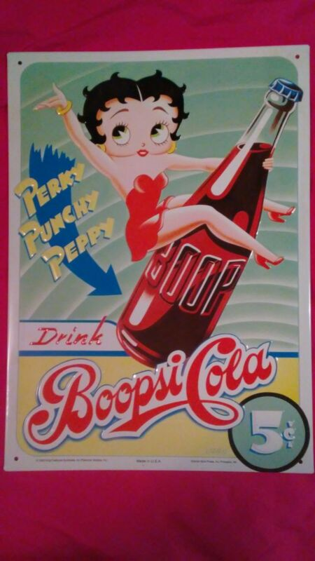 Betty Boop Metal Wall Plaque - Wall Sign