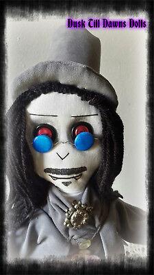 Gary Oldman Dracula doll Gothic Rag Doll OOAK Vampire doll collectors doll - Gothic Rag Dolls