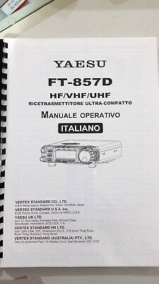 Manual in Italian Use' for Yaesu FT-857D Photocopy in A4 for sale  Shipping to Ireland