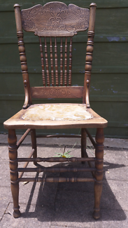Carved colonial spindle back chair Ainslie North Canberra Preview