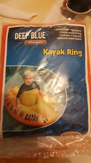 Inflatable kayak ring