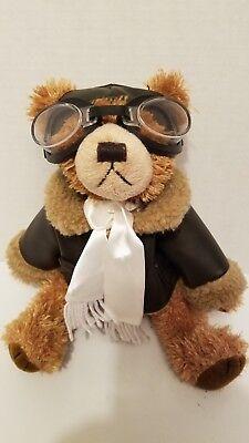 (Brass Button Bear Teddy aviator Ralph  Friendship jointed 10