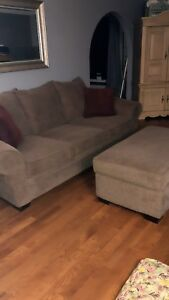 Large couch and matching ottoman