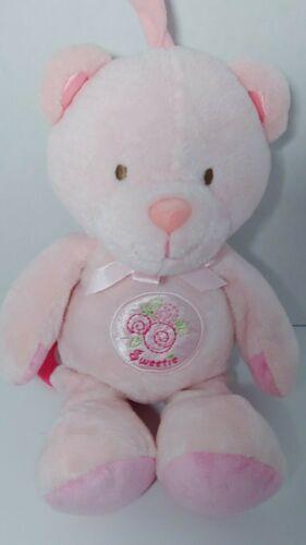 Prestige Baby pink Sweetie teddy bear plush musical crib hanging pull toy flower