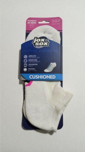 Jox Sox 1 Pack No Show Socks Women White 9/11 NEW