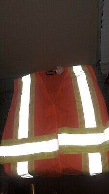 NEW!! Craftsman Reflective Safety Large Vest High Visibility ANSI Class 2 (Reflection Apps)