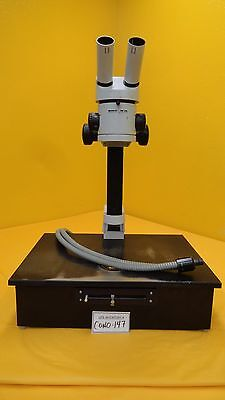 Wild Heerbrugg M3c Stereo Zoom Microscope Fiber Optic Light Stand Used Working