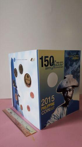 2015 PHILIPPINES BSP General Miguel MALVAR 150th Commemorative Coin 8 pc set UNC