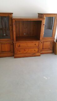Wall unit TV  buffet solid timber  Highland Park Gold Coast City Preview