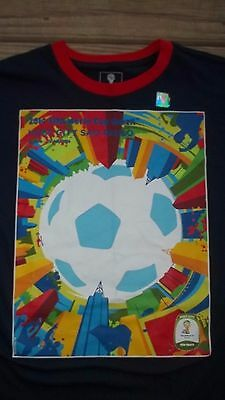Really Nice FIFA World Cup Soccer Brazil Shirt XL San Paulo 2014 Team Ball  image