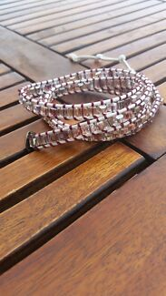 Crystal leather wrap bracelet x4 Pakenham Cardinia Area Preview