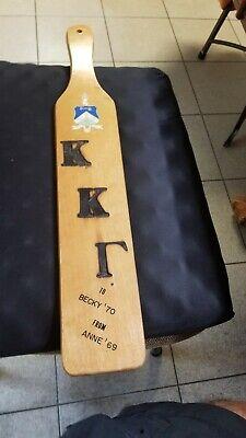 Rare 1970 Kappa Kappa Gamma KKG Soriety DePauw IOTA Chapter Pledge Paddle 22 in