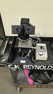 Olympus Microscope Trinocular Whk10x Eyepieces X-stage And Light Source