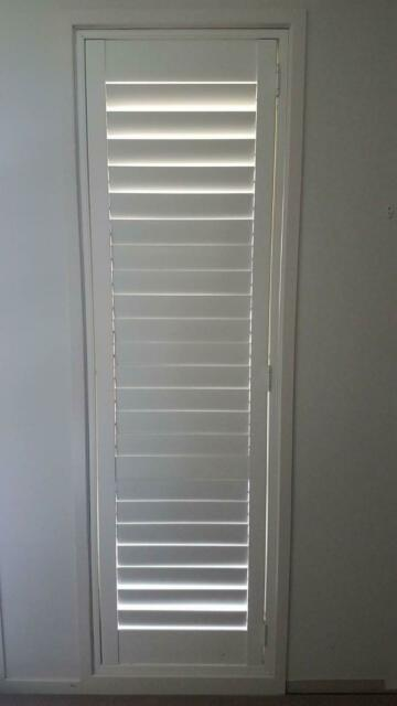 White Timber Plantation Shutters 8 sets | Curtains ...