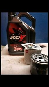 Motul 300v synthetic 10w40 oil change kit $100
