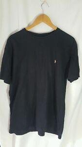 Simple Logo Ralph Lauren Black T-shirt (Medium)