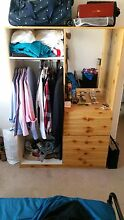 Wooden Cupboard with draws and hanging room Tamarama Eastern Suburbs Preview