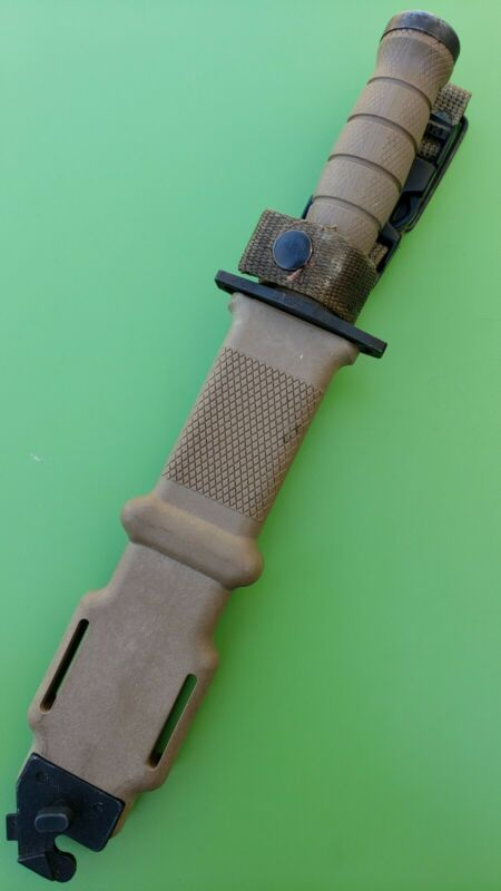 EOD M11 ONTARIO BROWN COMBAT KNIFE WITH SCABBARD OKC
