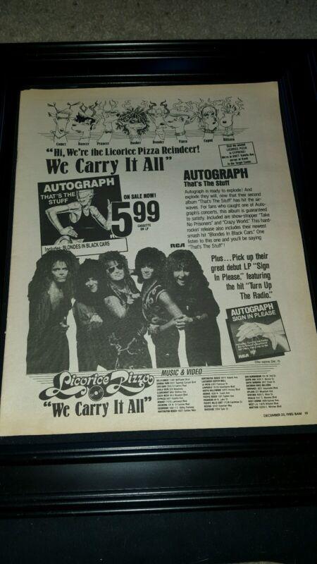 Autograph Licorice Pizza Sign in Please Rare Original Promo Poster Ad Framed!