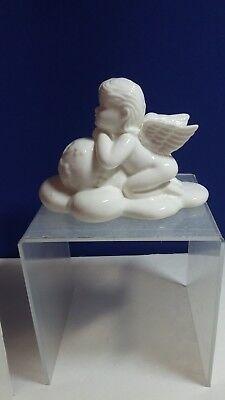 PORCELAIN CHERUB ANGEL FIGURINE PRAY FOR WORLD PEACE COLLECTIBLE HOME DECOR ()