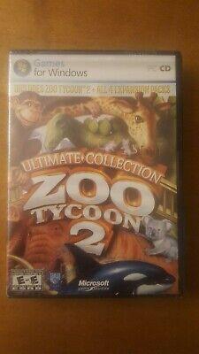 New Zoo Tycoon 2: Ultimate Collection (PC, 2008) Rare New & Sealed.  comprar usado  Enviando para Brazil