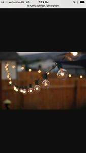 20 m clear globe party lights HIRE ONLY Engadine Sutherland Area Preview