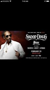 Snoop Dogg Tickets Floor Row 19