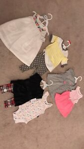 Tags attached baby girl clothes (7 pieces)