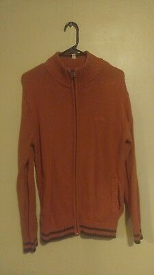 Columbia Sportswear Company Classic Logo Burnt Orange Long Sleeve Zip Up - Columbia Sportswear Classic Sweater