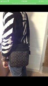 Charcoal Black Coach Side Bag