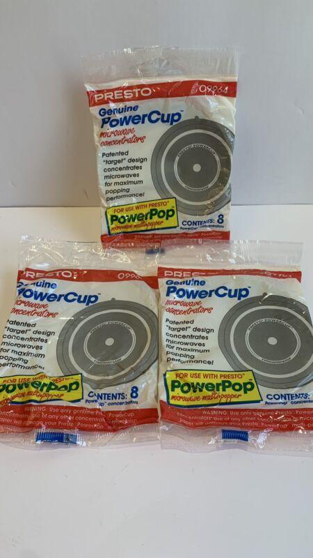Presto Genuine Power Cup Microwave POPCORN Popper Concentrators 09964 3x 8ct pkg