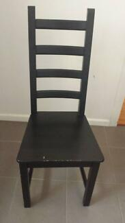 Black brown chairs Macquarie Park Ryde Area Preview