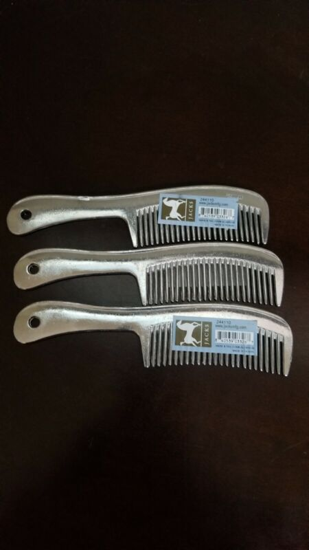 Lot of 3 - Jacks Mane And Tail Comb 8 Inch Aluminum (New) Free Shipping