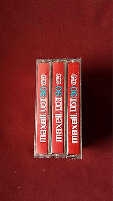 3 X Musik Cassetten Maxel UDII  90