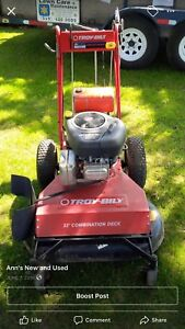 Walk behind lawnmower with less than 8hrs usage