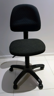 Black office chair with gas lift